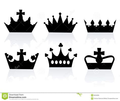 vector illustration of different crowns stock vector