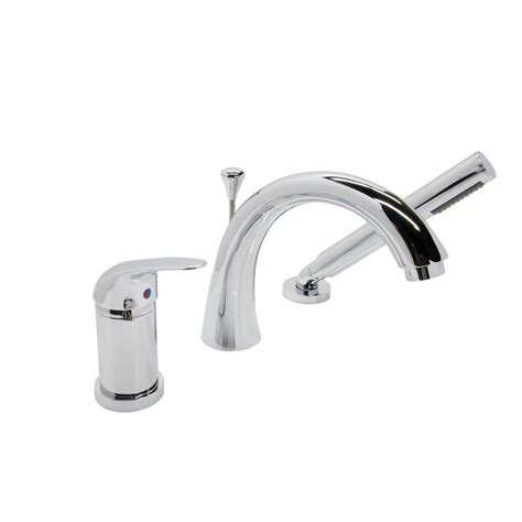 bathtub faucets with sprayer anzzi den series single handle deck mount roman tub faucet