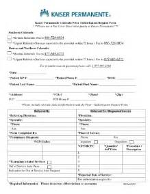 kaiser referral request form fill online printable