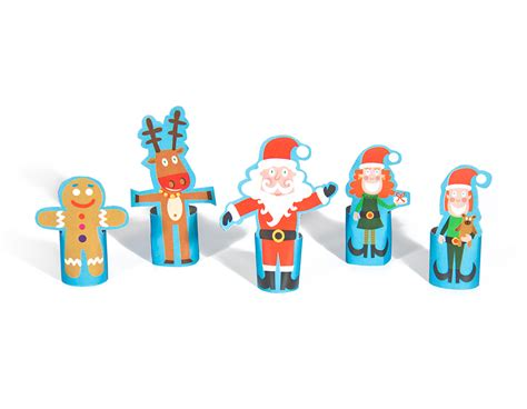 printable christmas paper finger puppets christmas paper finger puppets printable pdf pukaca