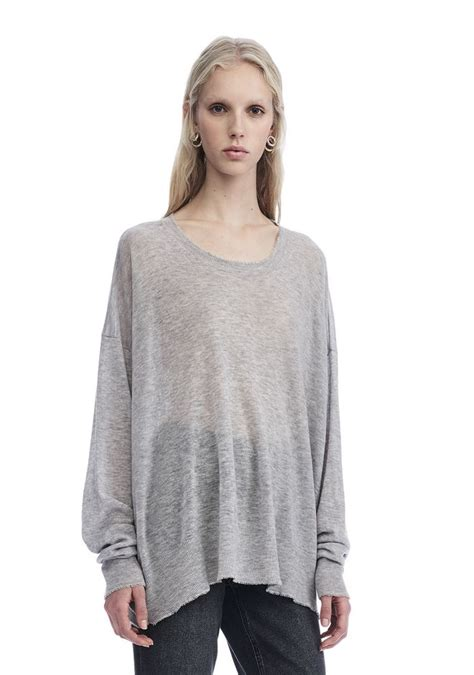 oversized knit pullover wang gauze knit oversized pullover top