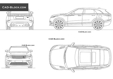 range rover drawing range rover velar cad blocks autocad drawings