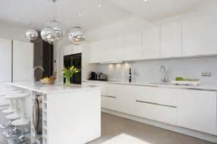 White Gloss Kitchen Cabinets by White Gloss Island Kitchen Contemporary Kitchen