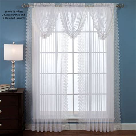 lace sheer curtains deville semi sheer lace window treatment