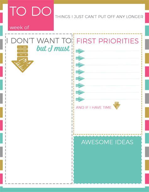 for to do printable to do list