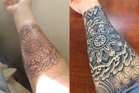 pattern for tattoo mandala geometric sleeve forearm progress timo sanders