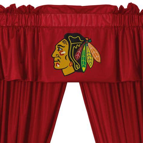 Nhl Chicago Blackhawks Long Curtain Set 5pc Drapes