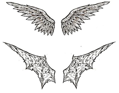 angel demon wings tattoo by shinjistrikes on deviantart