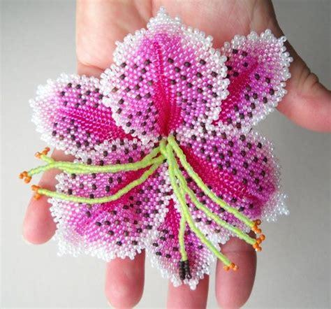 beaded flower russian peyote stitch new stargazer