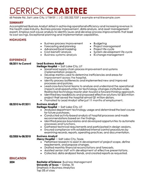 Professional Business Resume Template by Business Resume Templates Resume Builder