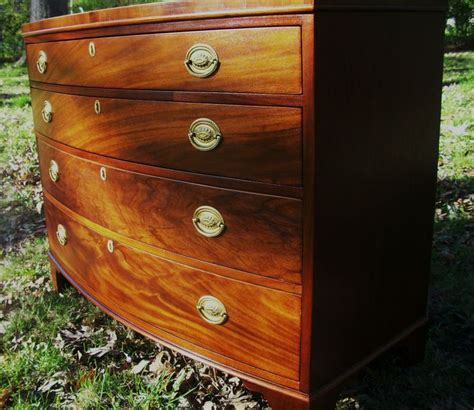bow front dresser plans baker georgian federal chippendale style bowfront mahogany