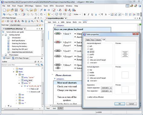 xml oxygen tutorial oxygen xml editor key