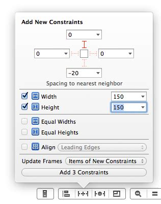 xcode autolayout pin autolayout in interface builder xcode 5 1