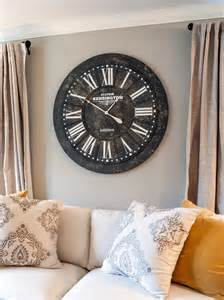 living room wall clock decorate behind the sofa diy network blog made remade diy