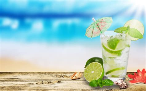 holiday cocktails background summer holiday wallpapers pixelstalk net