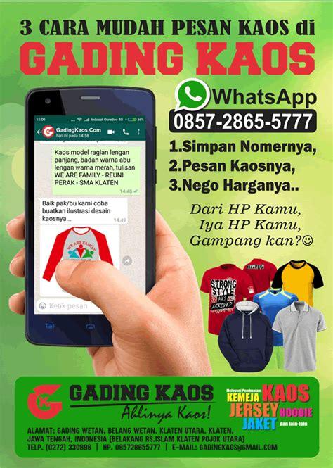 Kaos Whatsapp 3 cara mudah memesan kaos via whatsapp gading kaos klaten