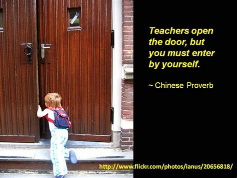 teachers open  door    enter
