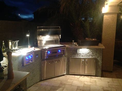 Outdoor Bbq Island Lighting Design For 8 Bbq Island
