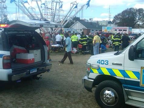 swing crash festival festival swing ride injures more than a dozen