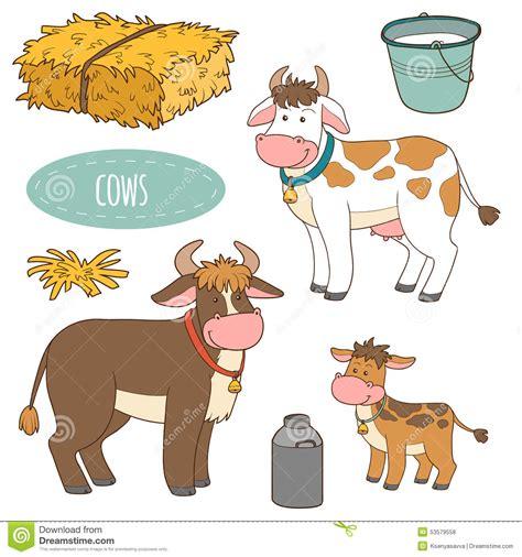 ensemble d animaux de ferme et d objets vaches 224 famille