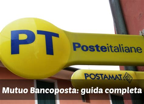 poste italiane mutui prima casa mutuo bancoposta simulazione mutuo conviene