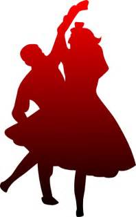 dancing couple red to black clip art at clker com vector