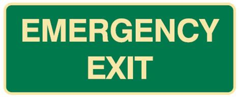 Lu Emergency Exit exit evacuation signs emergency exit