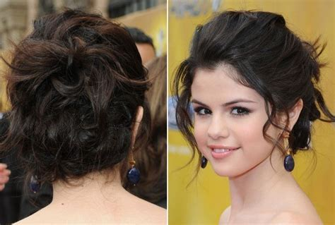 new year s eve hairstyle ideas selena gomez s face framing updo 20 celebrity inspired