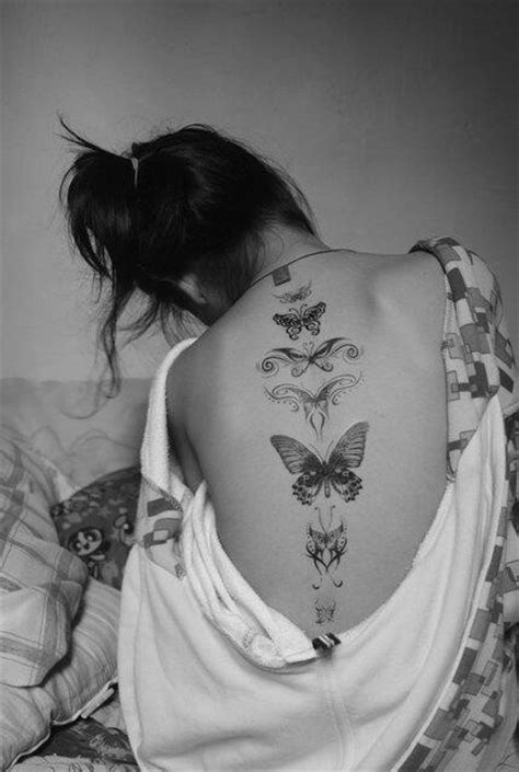 tattoos down the spine designs butterflly along the spine design of