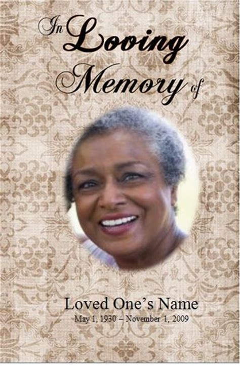 obituary card template 73 best images about printable funeral program templates