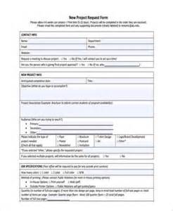 New Project Template by Sle Project Request Forms 8 Free Documents In Word Pdf