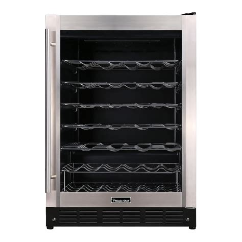 magic chef wine cooler magic chef 23 4 in w 50 bottle wine cooler in stainless
