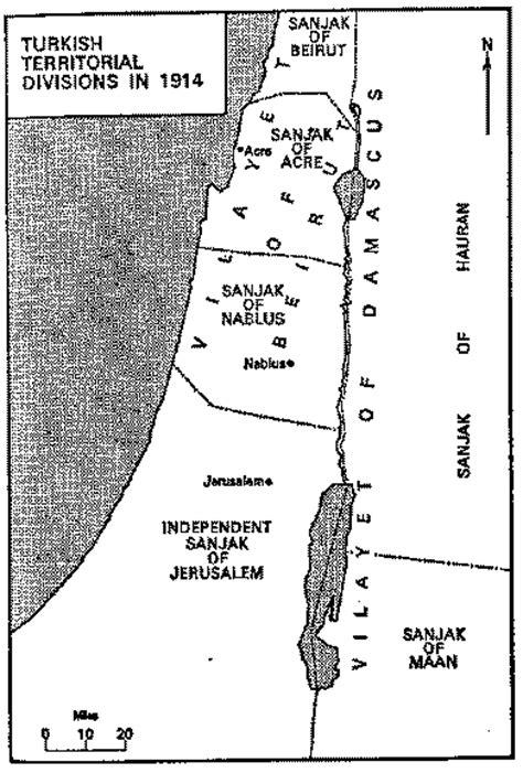 Ottoman Palestine Map Ottoman Palestine Levant 1914