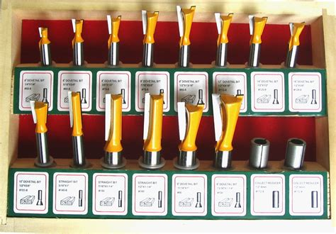 16 Pc 8mm Shank Dovetail Router Bit Set For Leigh Jig Sct