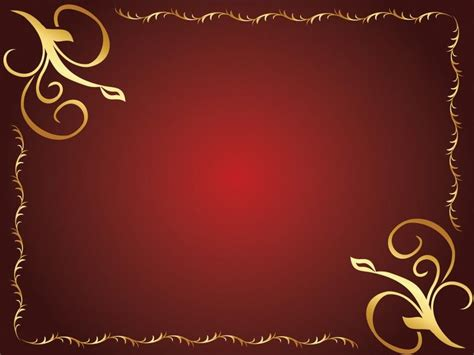 powerpoint templates with borders golden flower design powerpoint templates border