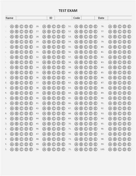 Best 43 Luscious Printable Scantron Kongdian