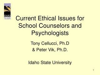 issues in school counseling ppt ethical issues in psychological assessment in school