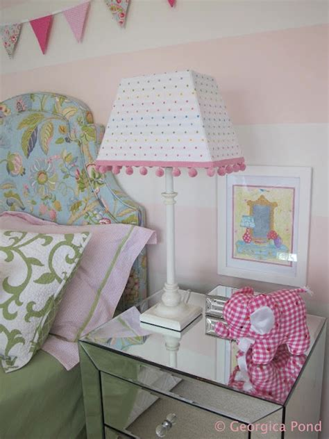 pink and white striped bedroom walls georgica pond interiors our home poppy s bedroom pink