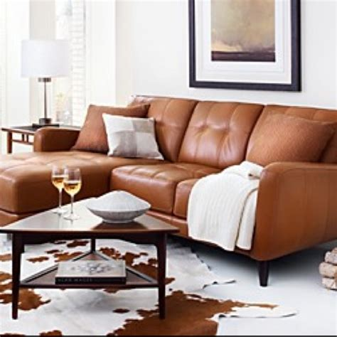 burnt orange leather sofa burnt orange leather looks cozy chic southwest