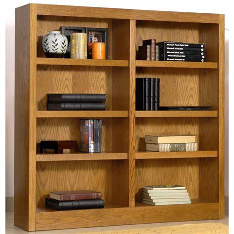 Wide Shelf Bookcase Concepts In Wood Wide 8 Shelf Bookcase 206544