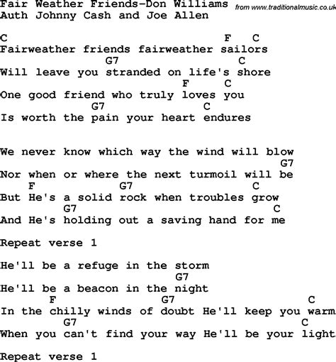 song for friends country southern and bluegrass gospel song fair weather