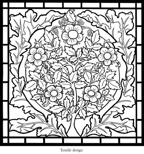 stained glass coloring book welcome to dover publications william morris stained