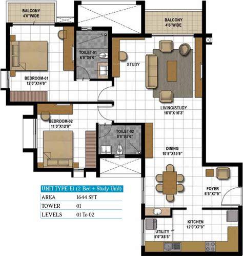 Gateway Floor Plan by Prestige Hillside Gateway In Kakkanad Kochi Price