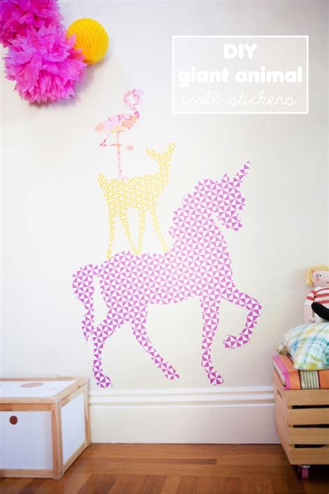 diy wall stickers diy animal wall stickers with free printables