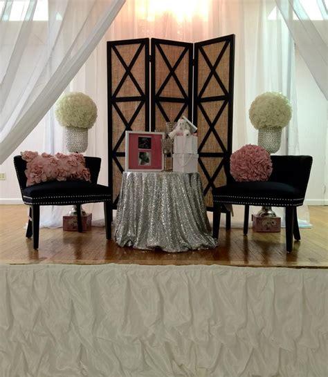 modern baby shower chair ideas modern chic chanel baby shower baby shower ideas