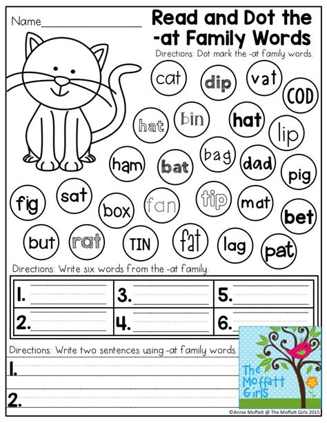 Cvc Word Family Worksheets by Cvc Fluency Dot A Word Family Family Words Children Reading And Kindergarten