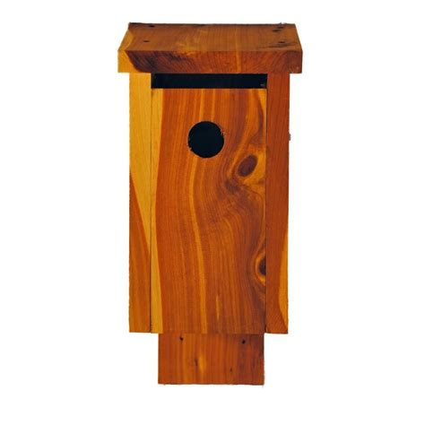 cedar chickadee bird house 2013025chrc the home depot