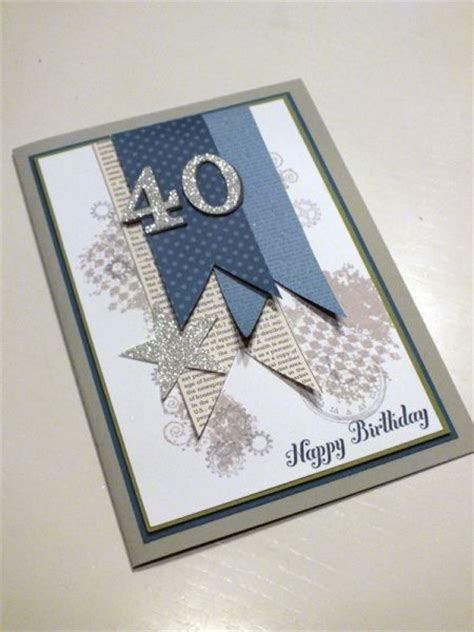 Mens Handmade Cards - 1000 ideas about 40th birthday cards on