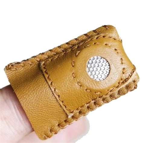 Handmade Accessory - handmade patchwork faux leather thimble finger sets with