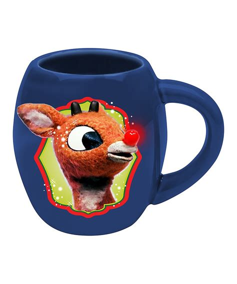rudolph the red nosed reindeer holly jolly oval mug zulily